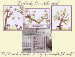 Lambs And Ivy Bedding For Cribs by Lavender Woods By Lambs And Ivy Nursery Prints Personalized