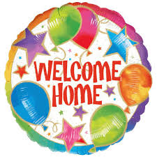 welcome home balloons delivery welcome home celebration foil balloon big w