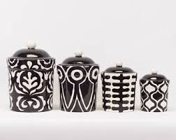 black and white kitchen canisters colorful ceramic pottery mosaic wall jewelry by romyandclare