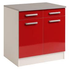 meuble bas cuisine 2 portes 2 tiroirs meuble bas de cuisine contemporain 80 cm 2 portes 2 tiroirs blanc