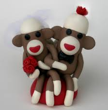 sock monkey wedding cake topper cupcake size red this 2 in u2026 flickr