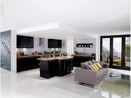 cuisine bois gris moderne deco noir et bois affordable simple salon gris fonce et blanc with