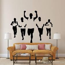 Home Decor Decals Five Athletes Wall Stickers Living Room Bedroom Office Walking