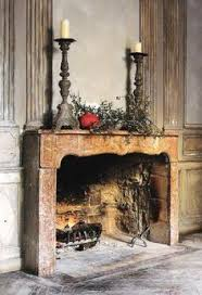 French Country Fireplace - french country like the clean wall color with old world