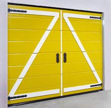 furniture garage door design modified stylistically and yellow door design