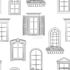 window pattern different architectural style of windows doodle