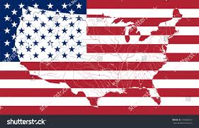 The Amarican Flag Map United States America On American Stock Vector 318426410