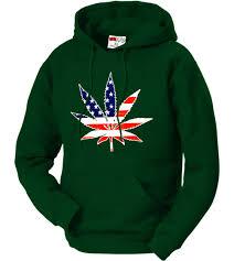 Pot Flag American Flag Pot Leaf Hoodie