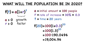 how do you solve a word problem with exponential growth virtual