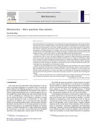 2010 mechatronics more questions than answers mechatronics design