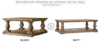Baluster Coffee Table Restoration Hardware Balustrade Salvaged Wood Coffee Table