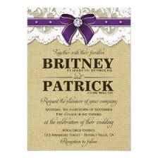 Rustic Vintage Wedding Invitations Rustic Purple Wedding Invitations Rustic Country Wedding Invitations
