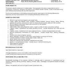 Sample Resume Maintenance by Sample Building Maintenance Resume Daily Job Report Template Web
