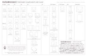 stationery components size guide envelope card size chart