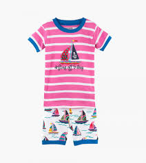 pretty sailboats kids u0027 short pajama set little blue house by