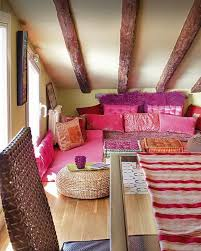 bohemian bedroom looks nice in pink and pretty decor pertaining to