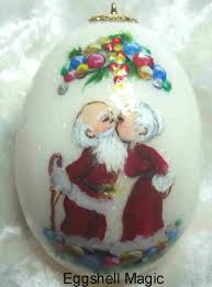 personalized santa claus ornaments by eggshell magic