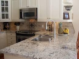 Kitchen Wall Ceramic Tile - mosaic backsplash grey glossy ceramic floor blue glass vase brown