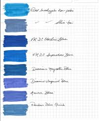 blue swatches sle of blue and blue black ink swatches the blog of the