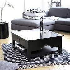 black square coffee table with storage interior home design