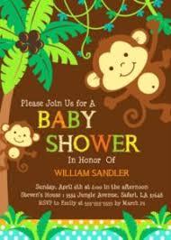 baby shower monkey baby shower invitation monkey baby shower invitations templates