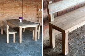 home design fancy dining table bench with backrest kitchen