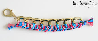 braided bracelet with chain images Braided chain bracelet how to make a bracelet png