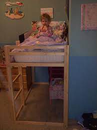 ana white toddler size loft bed diy projects