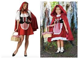 Mother Daughter Costumes Halloween Mother Daughter Matching Red Riding Hood Costumes Mommy