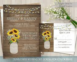 Sunflower Wedding Invitations Sunflower Wedding Invitation Set Printable Sunflower Wedding