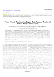 Bench Program Force Velocity Relationship Of Upper Body Pdf Download Available