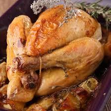 cuisiner poulet entier recette poulet rôti aux pommes de terre au four