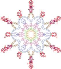 free bead patterns and ideas snowflakes falling ornament pattern