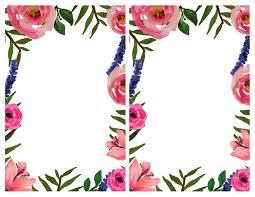 floral invitation free printable invitation templates paper