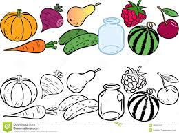 coloring with vegetables and fruits stock photography image