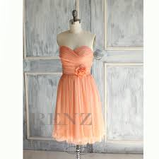 dusty coral bridesmaid dress strapless pleated formal dress