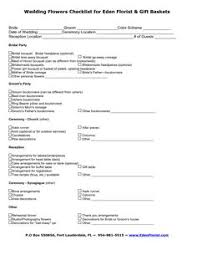 wedding flowers questionnaire wedding planner questionnaire template planner template free