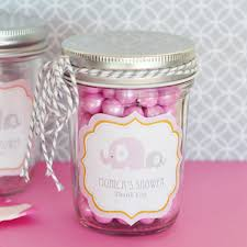 jar favors pink elephant baby shower jar favors gift baskets