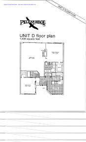 unit d floor plan at pelican ridge naples florida text marked