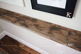 Barnwood Bookshelves diy barnwood and ikea bracket shelf
