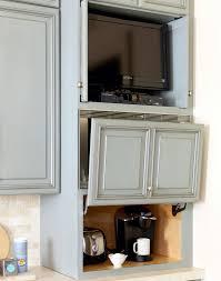 garage door for kitchen cabinet 14 appliance garage ideas to declutter your countertops
