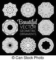 geometric ornaments vector clip illustrations 211 697