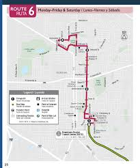 Unt Campus Map Route 6 Denton County Transportation Authority