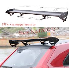 fit hatchback car rear spoiler wings universal no need drilling