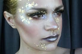 gold halloween makeup metals u0026 minerals avant garde makeup tutorial youtube