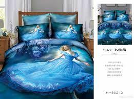 3d cinderella bedding set bedding sets elsa anna bedclothes quilt