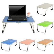 lighted laptop desk tray portable fold laptop desk notebook stand bed tray table with folding