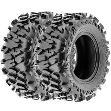 set pair of 2 terache atlas at 28x11 12 atv utv all terrain tires