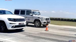 jeep mercedes benz race jeep grand cherokee srt8 vs mercedes benz g63 amg