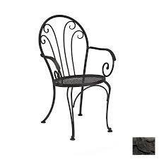 Wrought Iron Patio Furniture Lowes by Start Order Chair Options 4 Dining Arm Chairs Included 2 Dining